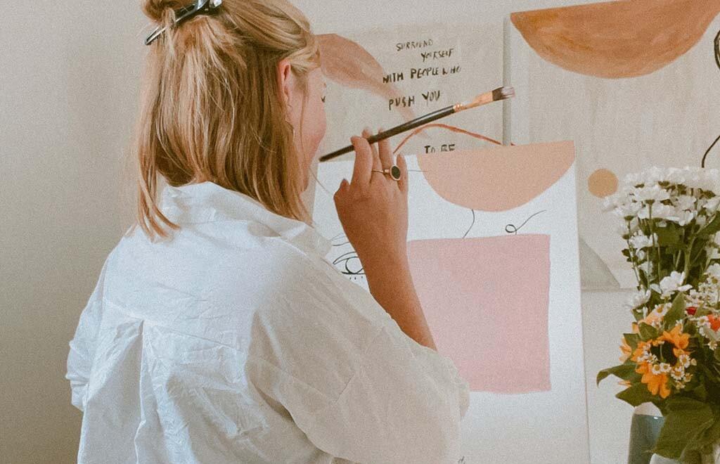 Influencerin Male Geers malt und zeichnet gerne, um runterzukommen