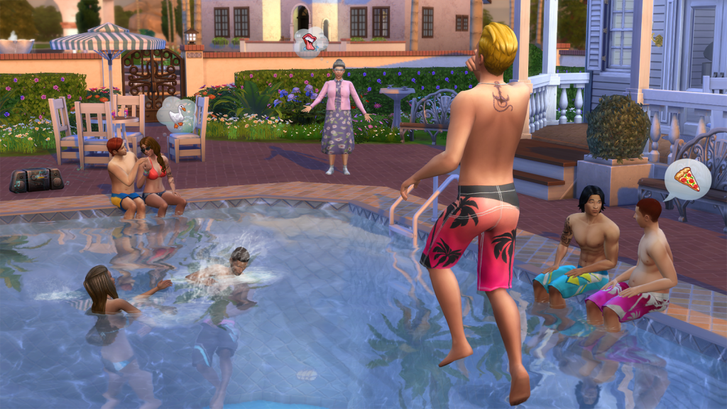 Bei den Sims ist die Welt noch in Ordnung: Social Distancing haben die quirligen Quaraktere hier noch nicht gehört