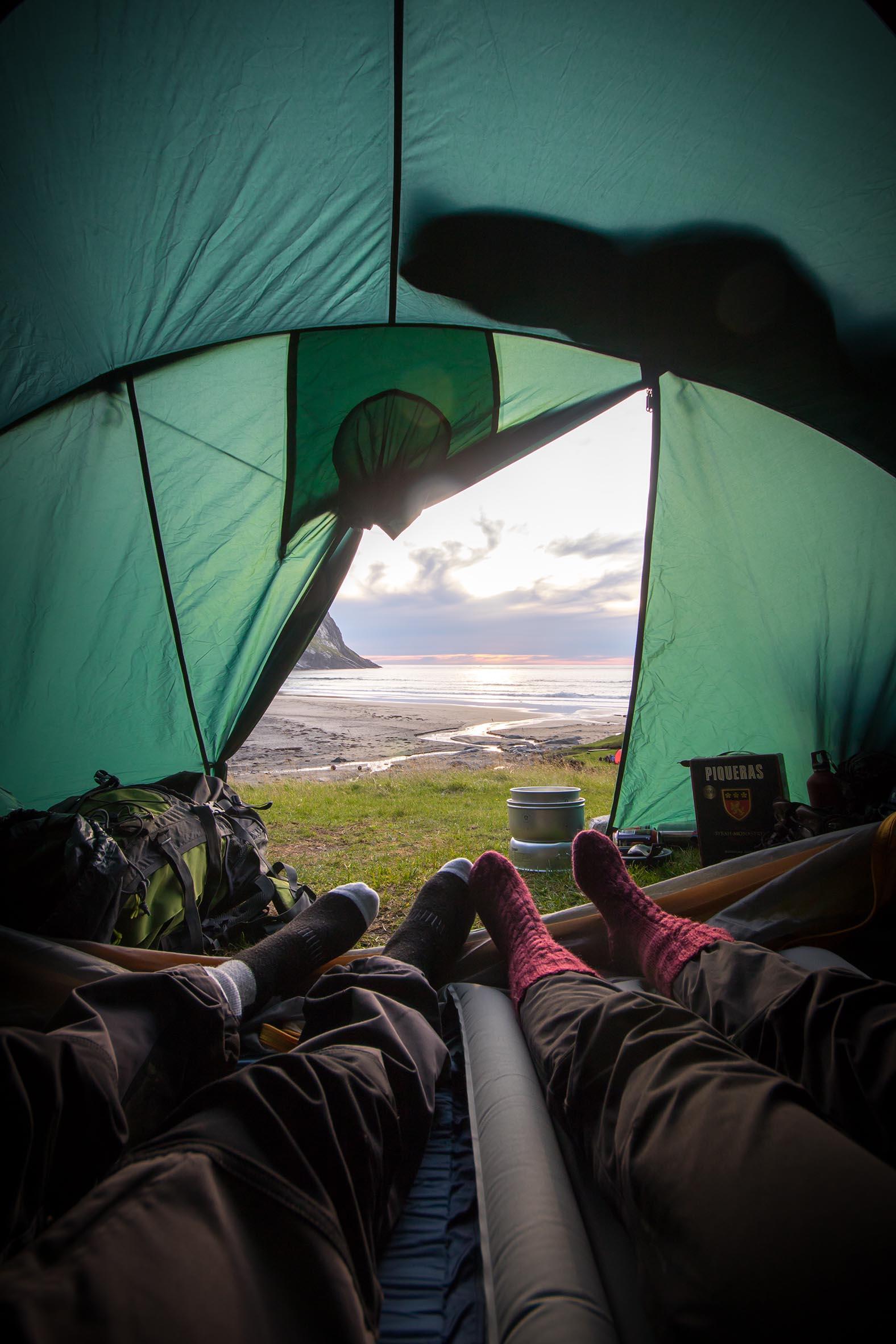 gemütlich im Zelt