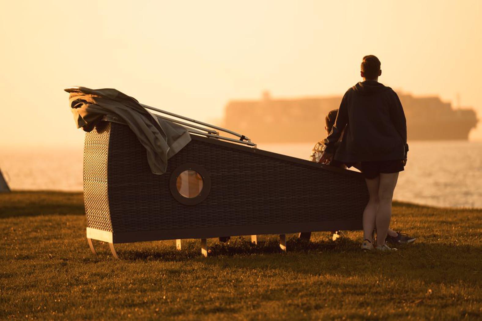 Das kleinste Ferienhaus in Niedersachsen: Schlafen im Schlafstrandkorb