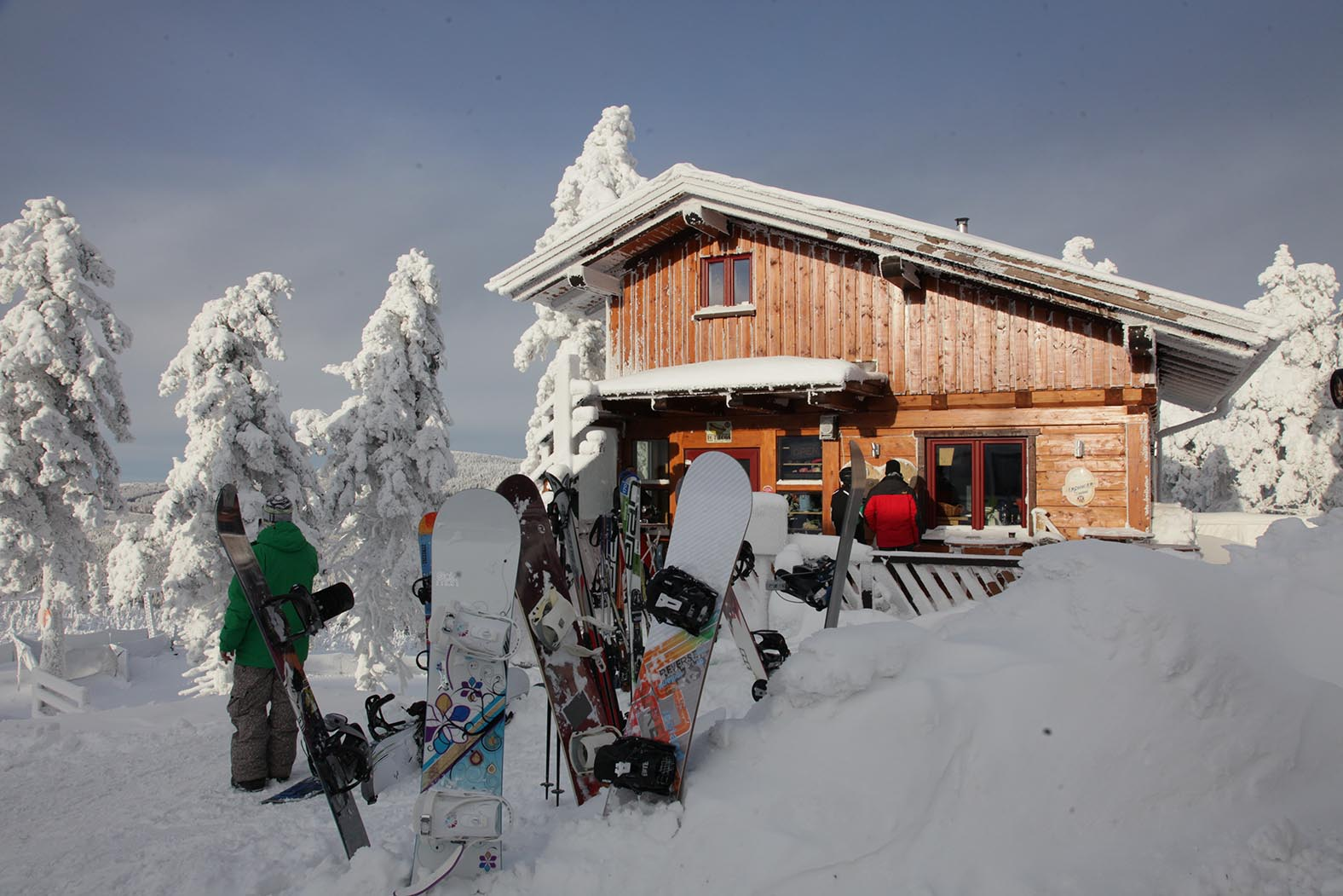 Auf dem Wurmberg in Braumlage, dem höchsten Berg Niedersachsens, kann man wirklich Wintersport betreiben