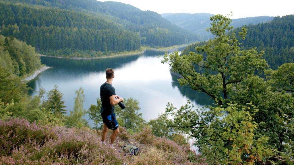 Fotospot Blick in die Talsperre Harz