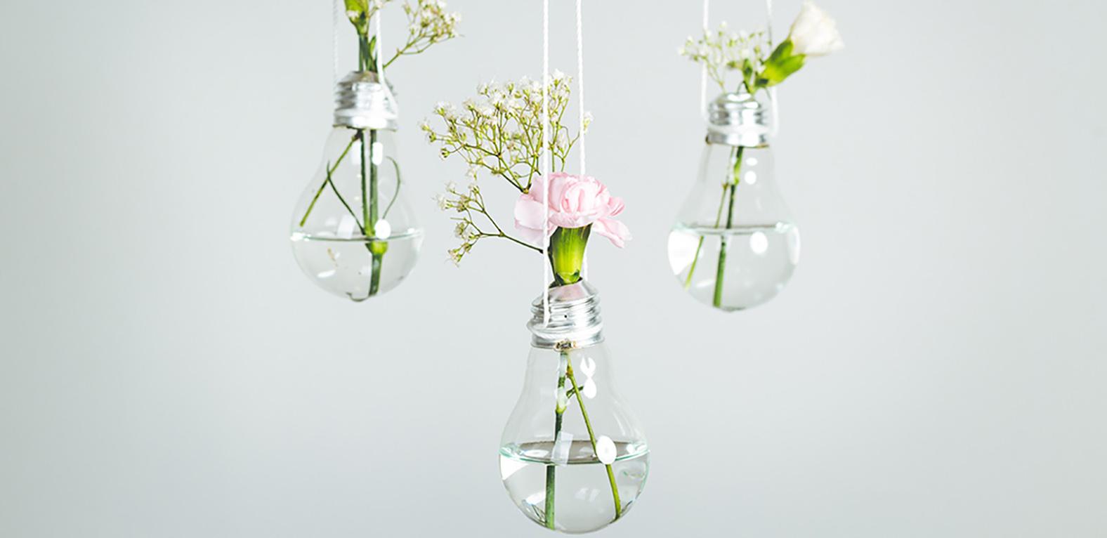 Glühbirne upsycling Vase