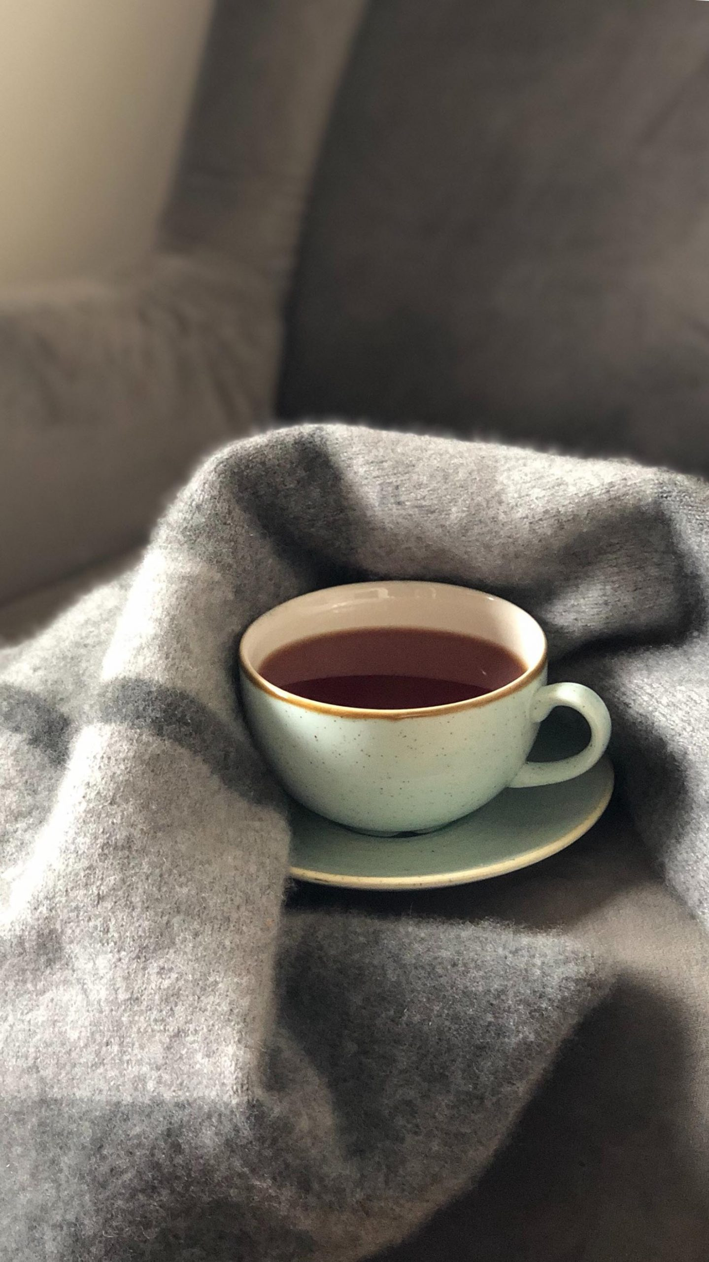 heißer Tee wärmt von innen