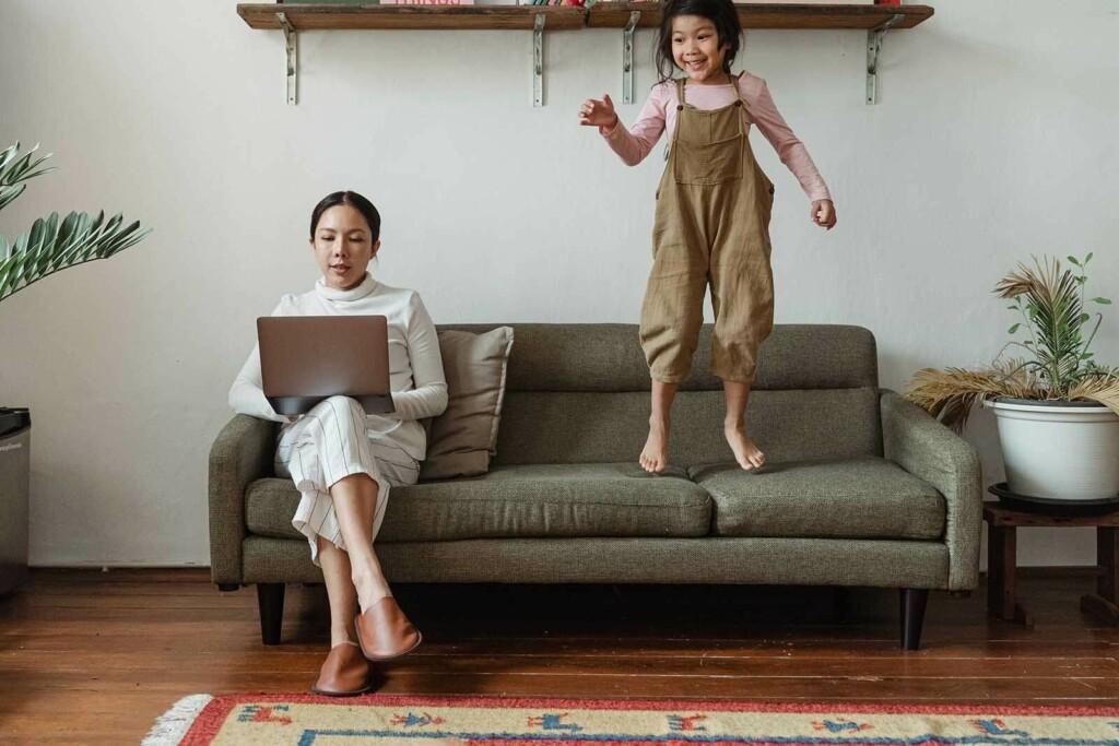 flexibles arbeiten zuhause mit kind