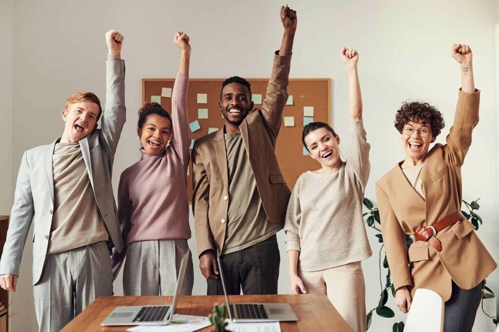 motiviertes team das new work lebt