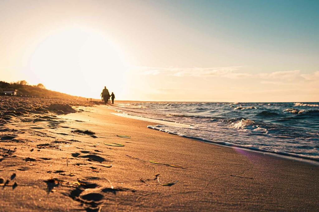 Urlaub in Deutschland am Strand an der Ostsee