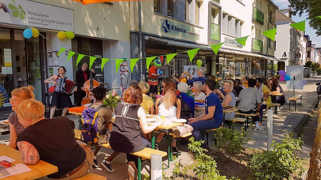 Nachbarschaftsfest beim Verein Versorgungsbrücken in Bremen