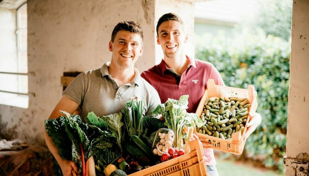 Hannes und Steffen von Tipkes Hofkontor sind junge Landwirte mit Gemüse